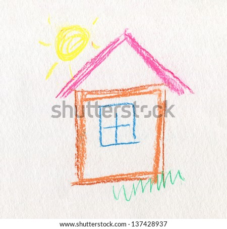 Child Like Drawing House