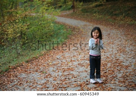 child outdoor in forest