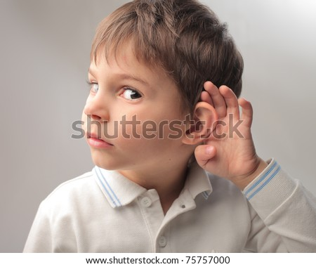 Child overhearing something