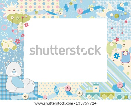 Child photo framework. Raster version, vector file available in portfolio.