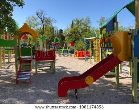 Child playground empty