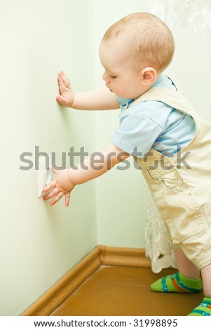 child pulls to the socket