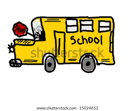 School Bus Drawing Child 39 s Drawing of a School
