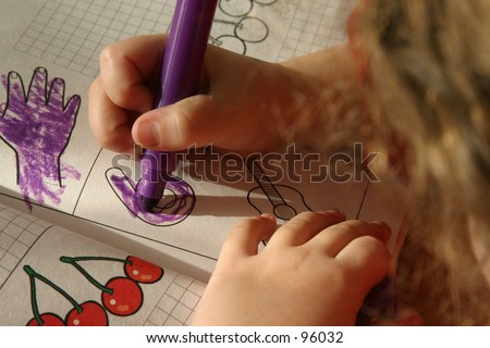 Child'S Hand Colouring A Book Stock Photo 96032 : Shutterstock