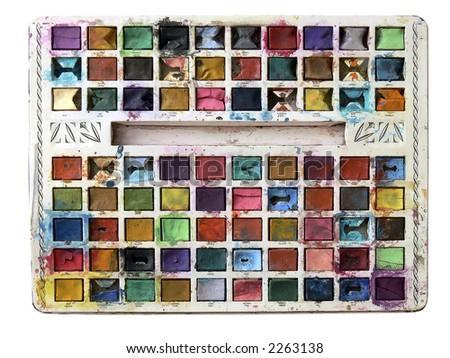 child's paintbox, natural colours