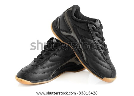 Child's sport shoes on a white background