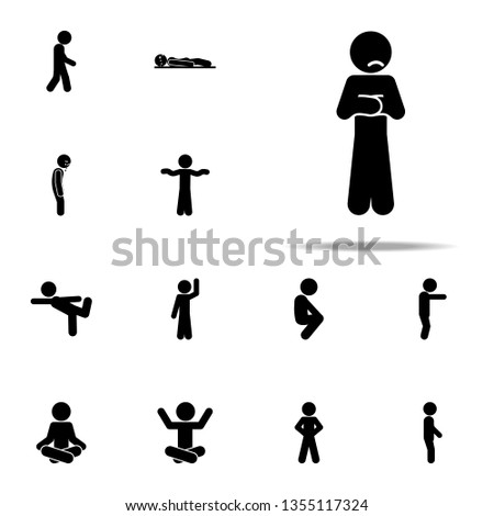 child, sad icon. child icons universal set for web and mobile