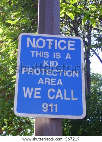 Child Safety Warning Sign