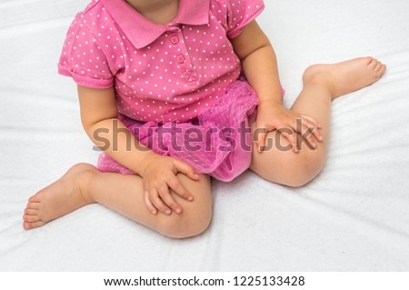 Child sitting in bad position, which is called W-sitting. W-sitting can cause to hip dislocation.