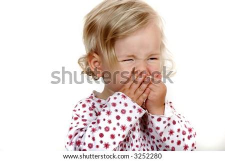 Child sneezing - stock photo