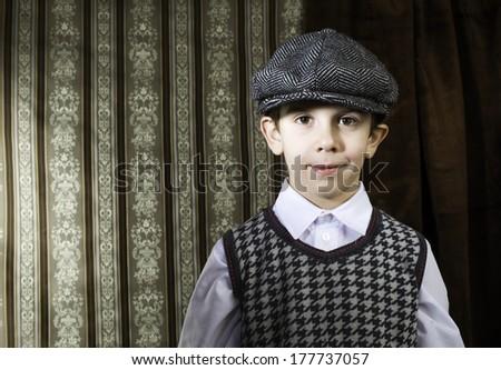Child vintage clothes . Close up shot