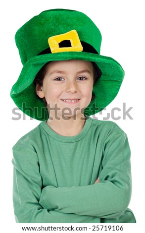 Child whit hat of Saint Patrick's Day celebration