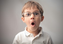 Child with astonished expression