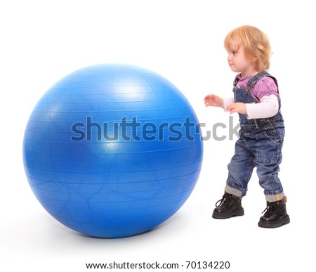 Child with ball. - stock photo