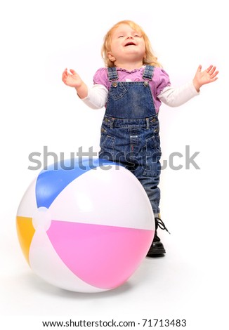 Child with ball.