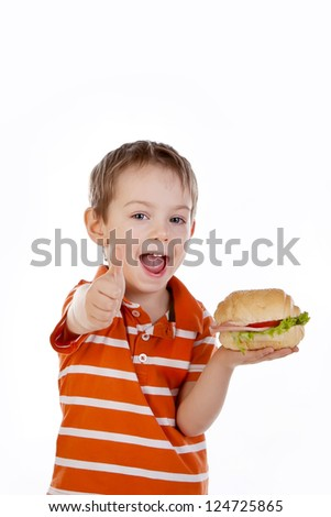 child with food