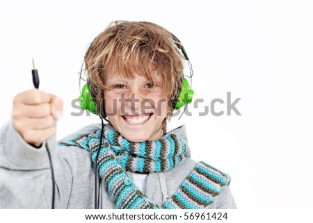 child with music unplugged
