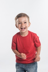 Child with red t-shirt