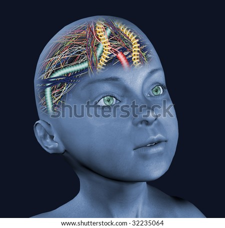child with wired brain