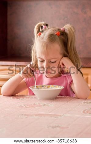 Child 3.5 years did not want to eat breakfast