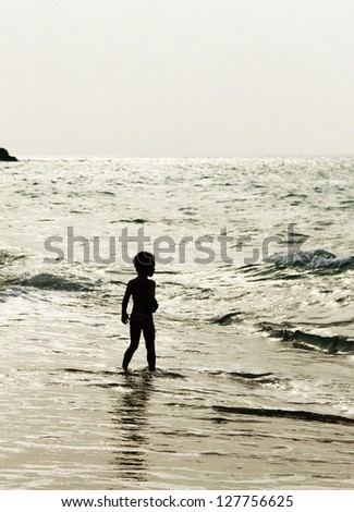 childhood - stock photo