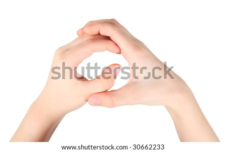 childish hands represents letter Q from alphabet