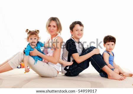 Children and parents have fun together