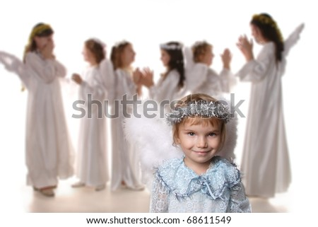 children are angels in the Nativity of Christ