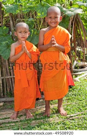 children as buddhist novice asia