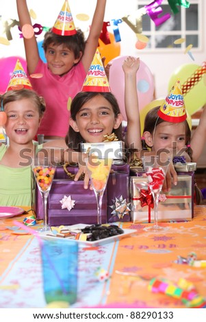 Children at a birthday party