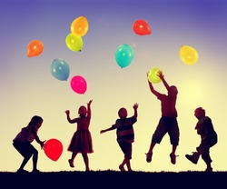 Children Balloon Childhood Fun Playing Concept