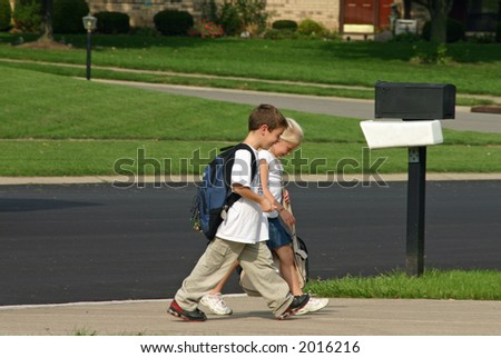 Children Coming Home From School