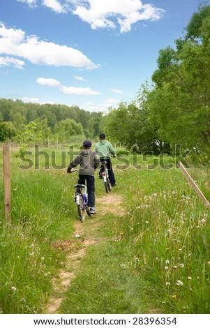 Children country biking