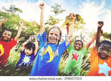 Children Family Enjoyment Playful Summer Casual Concept