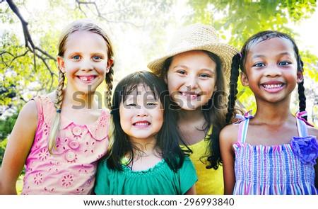 Children Friendship Togetherness Smiling Happiness #296993840