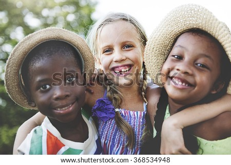 Children Friendship Togetherness Smiling Happiness Concept #368534948