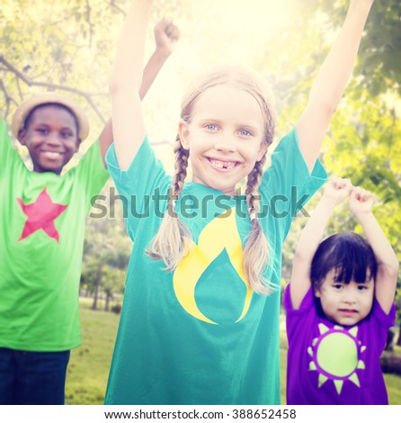 Children Friendship Togetherness Smiling Happiness Concept #388652458