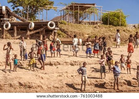children from tribal village...
