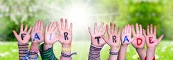 Children Hands Building Word Fair Trade, Grass Meadow