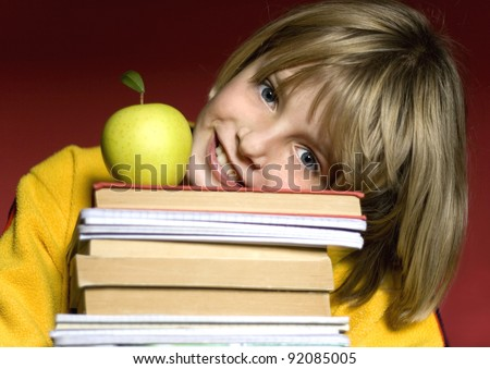 children holding books
