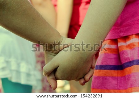 children holding hand #154232891