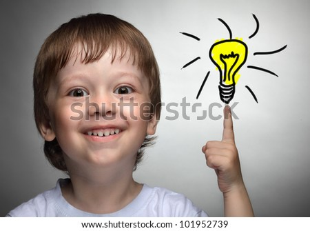 Children idea with draft lamp