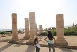 children in the park of Caesarea