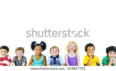 Children Kids Happiness Multiethnic Group Cheerful Concept - Shutterstock ID 254867701
