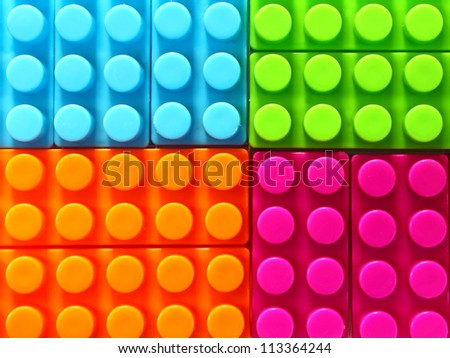 Children lego brick toy background