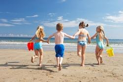 Children on beach vacation