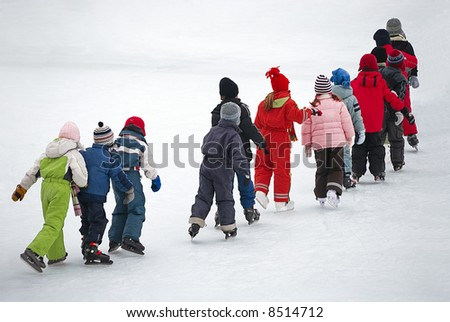 children on the ice