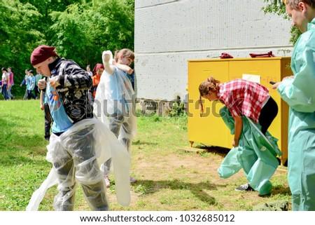 "Children on vacation children's camp ""science town"". Russia. Zelenograd 11.06.15"