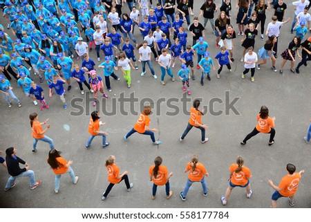 "Children on vacation children's camp ""science town"". Russia. Zelenograd 30.06.15 #558177784"