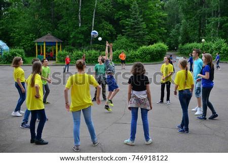 "Children on vacation children's camp ""science town"". Russia. Zelenograd 20.06.16"